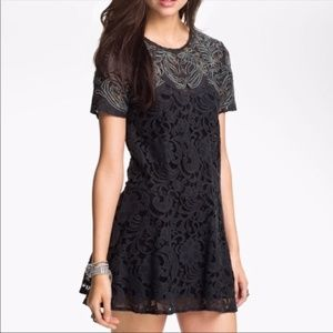 Free People Beautiful Dreamer Lace Mini Dress M
